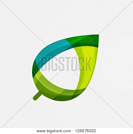 Green concept, geometric design eco leaf. Vector