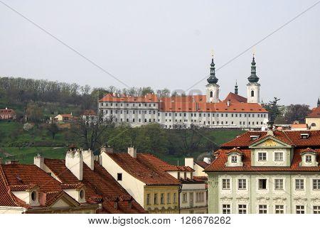 Prague, Czech Republic - April 23, 2013: View Of Strahov Monastery