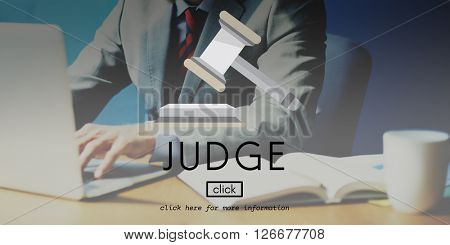 Judge Control Court Law Lawyer Legal Regulations Concept