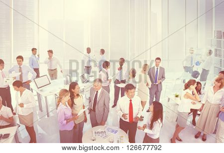 Multiethnic Group of People Working in the Office Concept