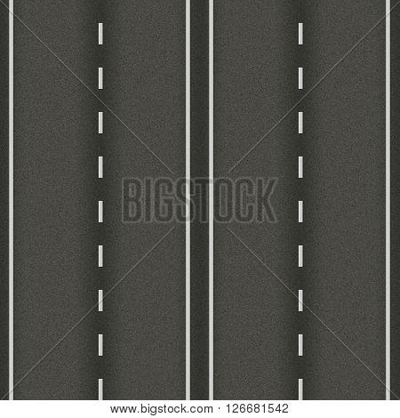 seamless texture road highway asphalt  white markings