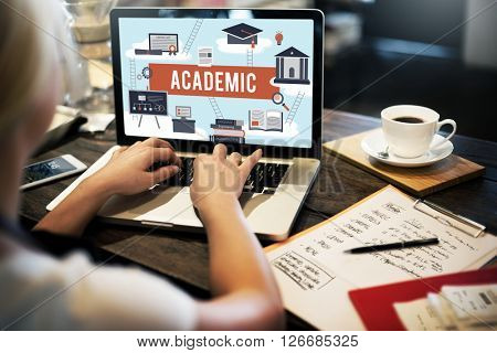 Collage Academic Education Institution Concept