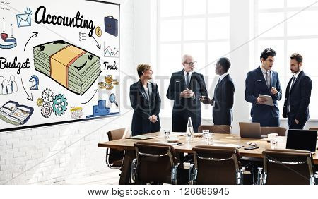 Accounting Bookkeeping Finance Economic Money Concept