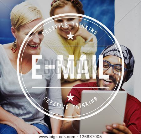 E-Mail Message Mail Data Sharing Communication Concept