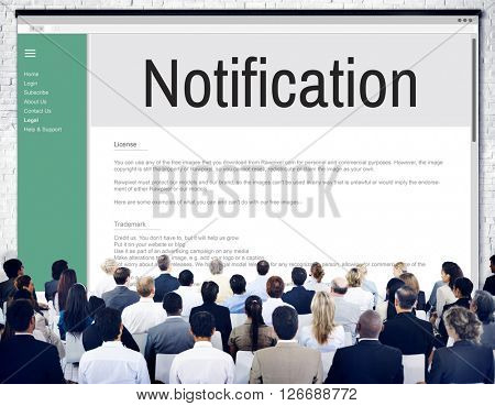 Notification Alert Icon Inbox Internet Message Concept