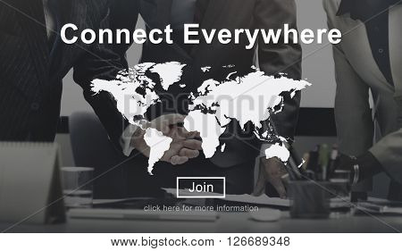 Connect Everywhere Global Network Worldwide Concept