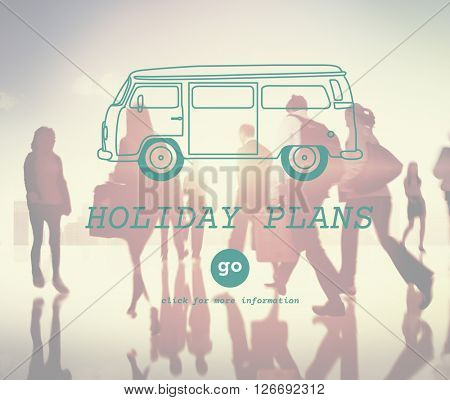 Holiday Plan Vacation Trip Destination Route Concept
