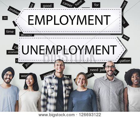 Employment Unemployment Career Job Concept
