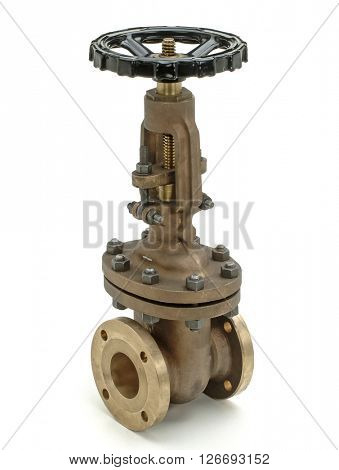 industrial valve for hydraulic system, isolated