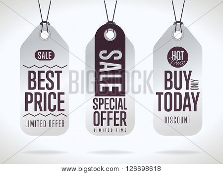 Sale tag bitmap isolated. Sale sticker with special advertisement offer. Best price tag. Buy today tag. Special offer tag.