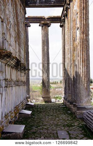 Zeus Temple, Aizanoi, Cavdarhisar, in Kutahya, Turkey