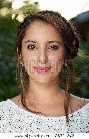 Headshot Of Girl With Braid