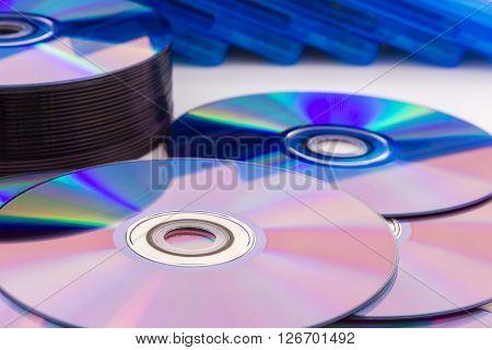 Closeup Compact Discs