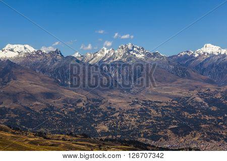 Cordillera Blanca mountains in Peru, South America.
