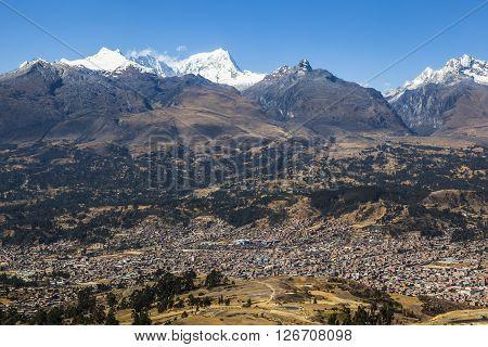 Cordillera Blanca mountains, Andes, Huaraz, Peru South America