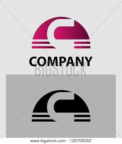 Alphabet symbol Letter C. Letter C logo design
