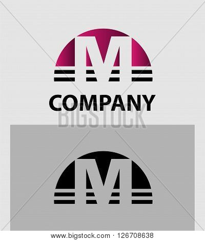 Abstract letter M icon. Letter M logo icon design template elements