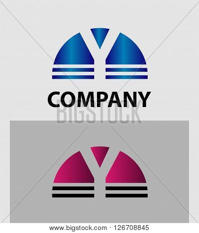 Abstract letter Y icon. Letter Y logo icon design template elements