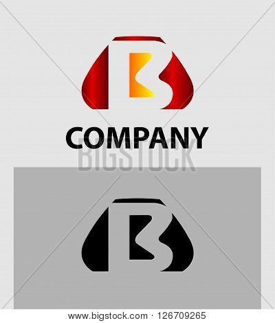 Letter B. Logo letter B company vector design template