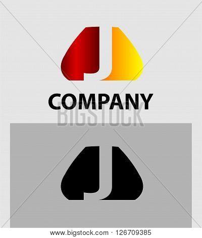 Letter J logo. Logo letter J company vector design template