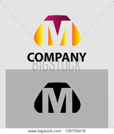 Letter M. Logo letter M company vector design template