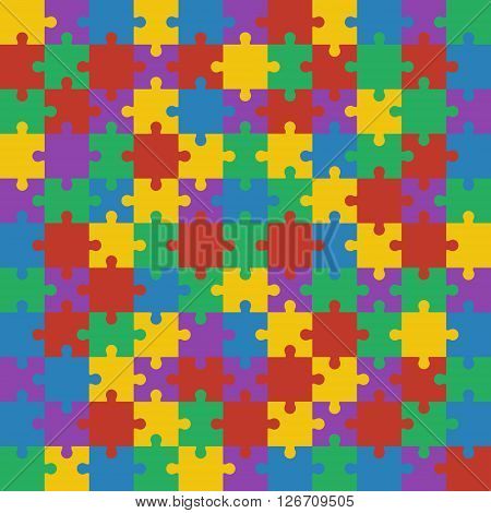 Colorful shiny puzzle vector illustration. Eps 10.