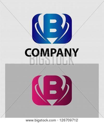 Letter B logo. Logo letter B company vector design template