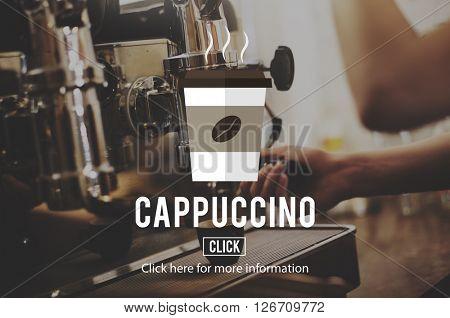 Coffee Beans Cappuccino Coffee Culture Concept