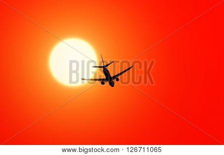 Aircraft in sun