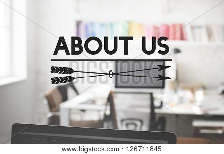 About Us Information Service Sharing Join Concept
