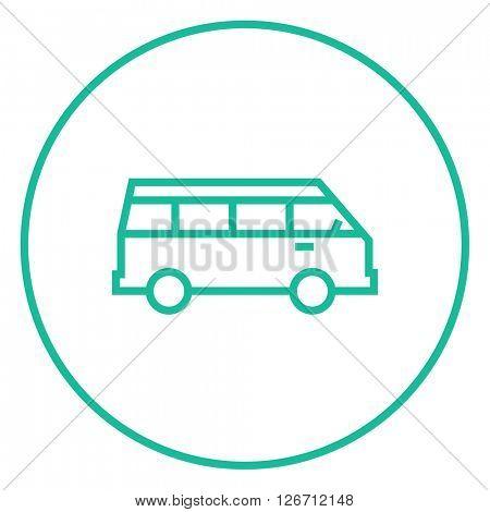 Minibus line icon.
