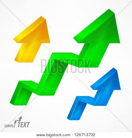 Arrow Up Signs Color