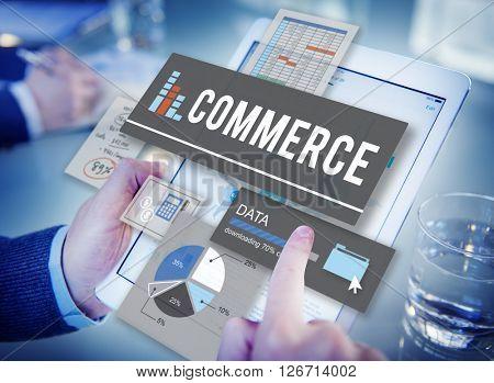 Commerce Marketing Business Finance Concept