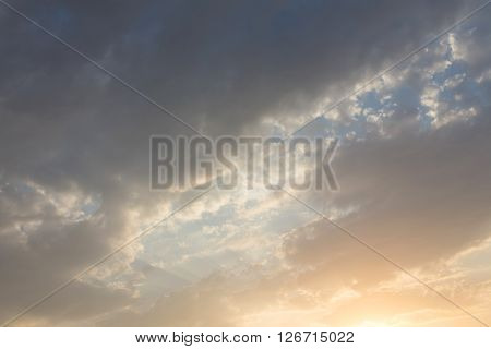 Colorful Sunset Sky Background