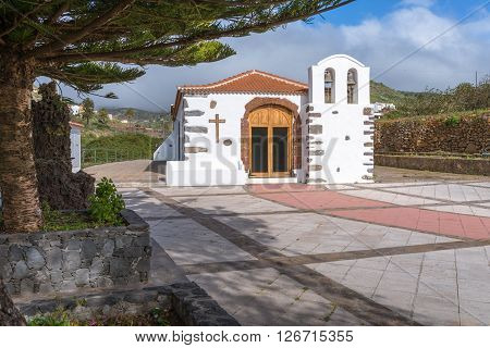 The Hermitage of the Holy Virgin of health, Ermita Virgen de la Salud in the small town Arure on La Gomera. The village is situated in the highlands of the island. Near the Valle Gran Rey