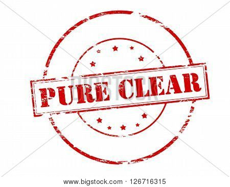 Rubber stamp with text pure clear inside vector illustration