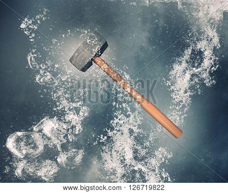 Hammer under water