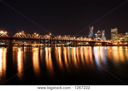 Portland Skyline At Night