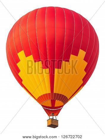 A photo of red balloon on white isolate background