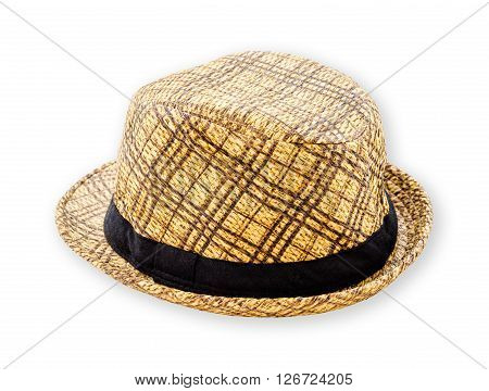 Woven hat closeup isolated on a white background save clipping path.