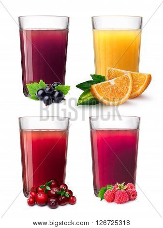 Glasses With Smoothies And Juice