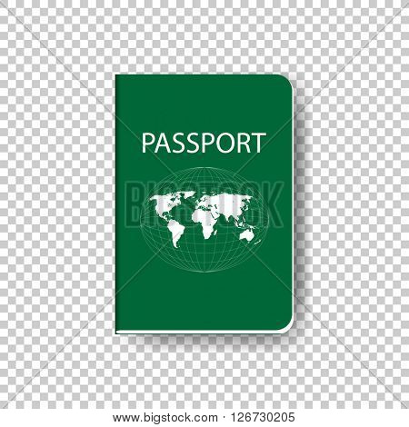 green passport booklet. eps10 vector