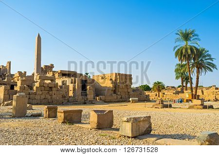 The Karnak Temple is one of the biggest archaeological sites in Egypt with numerous preserved ancient artifacts Luxor.