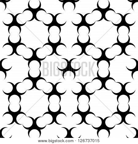 seamless sample - abstract cells and links from half moons. vector illustration