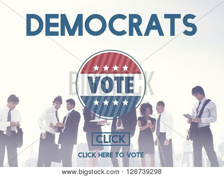 Democracy Democrats Human Rights Liberty Freedom Concept
