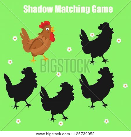 Shadow matching game for kids. Find the right shadow task
