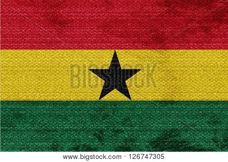 Ghana flag with some soft highlights and folds