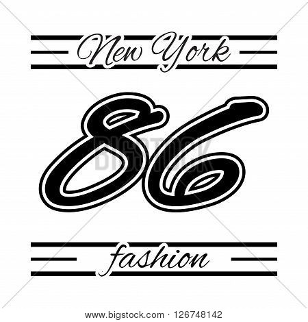 T shirt typography graphic New York city Brooklyn. Girl graphic style NYC. Fashion stylish print for sport wear. Emblem american college team. Template apparel card label poster Vector illustration