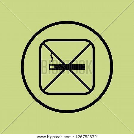 No Smoke Icon In Vector Format. Premium Quality No Smoke Symbol. Web Graphic No Smoke Sign On Green