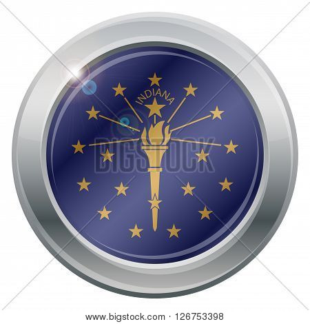 Indiana State Flag Silver Icon